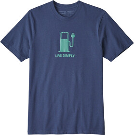 Patagonia Live Simply Power - T-shirt manches courtes Homme - bleu